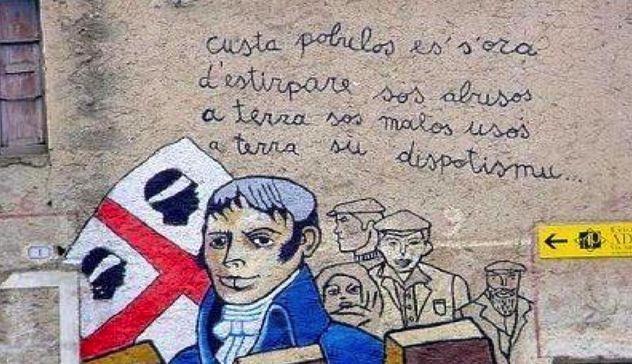 murales che rappresenta Giò Maria Angioy