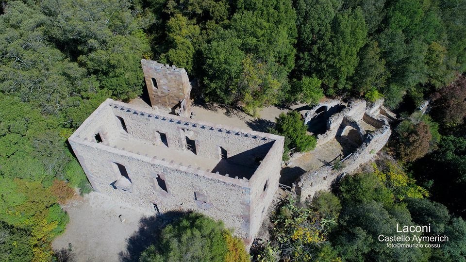 The castle Aymerich from the top