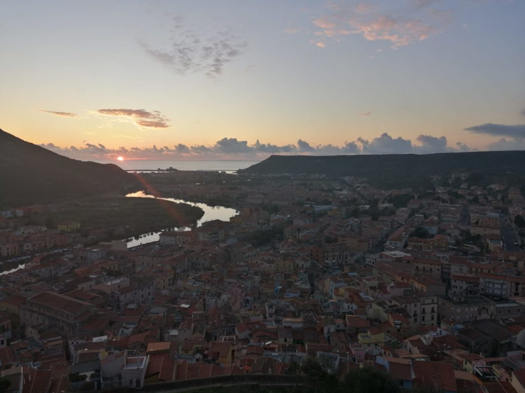 A view from the Malaspina Castle in Bosa