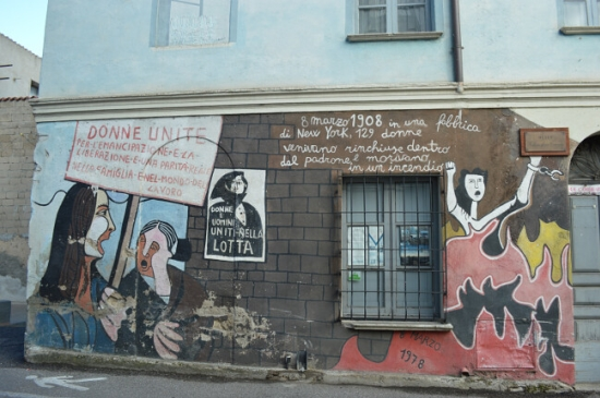 A mural commemorating 8th March